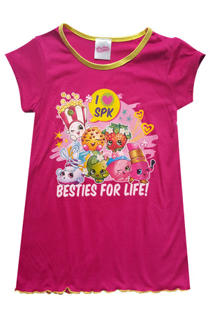 Shopkins Girls Polly Popcorn Apple Blossom Nightwear Sleepwear 2 to 8 Years - Character Direct