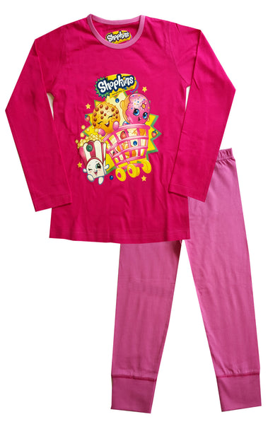 Official Girls Shopkins Pyjamas Age 4 to 10 Years - Character Direct
