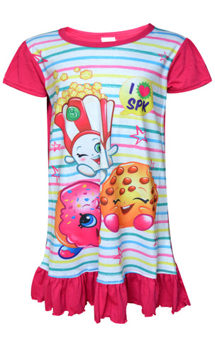 Shopkins Girls Polly Popcorn Apple Blossom Nightwear Sleepwear Sizes 2 to 8 Years - CharacterDirect