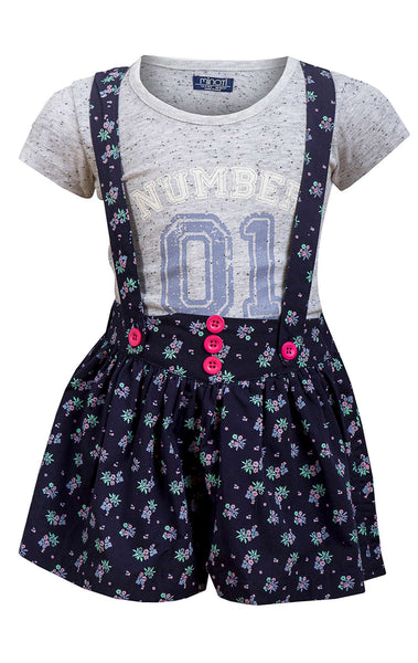 Minoti Baby Girls Printed top and Floral Short Set Age 1 to 4 Years - Character Direct
