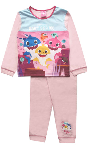 Kids Boys Girls Baby Shark Pyjamas 1-4 Years - Character Direct