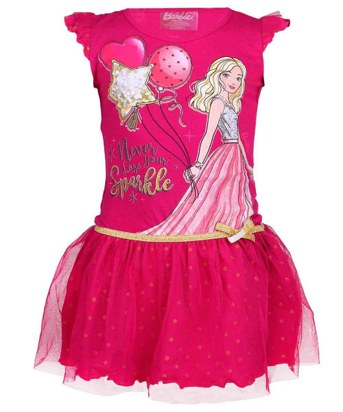 Girls Barbie Costume Dress Age 4 to 10 Years - Character Direct