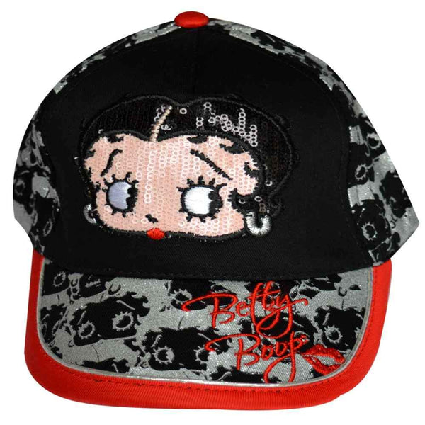 Betty Boop Girls Baseball Hat in Black Age 3-11 Years - Character Direct