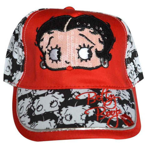 Betty Boop Girls Baseball Hat in Red Age 3-11 Years - Character Direct