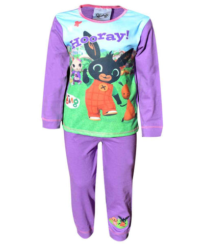 Girls Official Licensed Bing CBeebies Flop Hoppity Sula Long Length Pyjamas - Character Direct