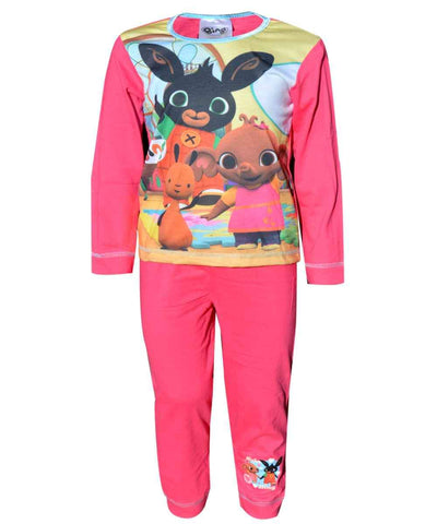 Girls Official Licensed Bing CBeebies Flop Hoppity Sula Long Length Pyjamas