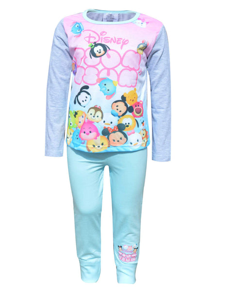 Girls Official Disney Tsum Tsum Snug Fit Pyjamas Age 4 to 10 Years
