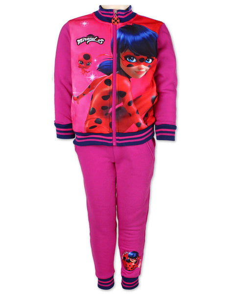 Girls Official Licenced miraculous ladybug Fleece Lined Tracksuit Trackpant Age 2 to 10 Years - Character Direct