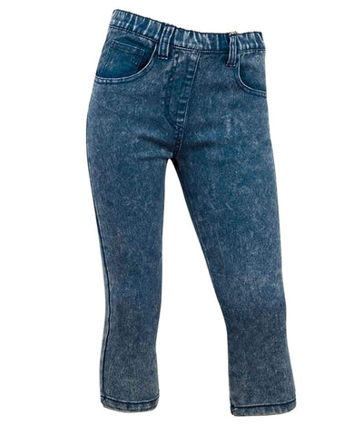 Girls Minoti Acid Wash Cropped Denim Jegging Legging Age 8 to 13 Years - Character Direct