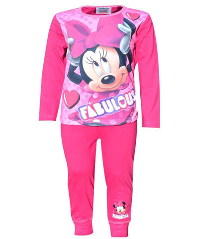 Girls Minnie Mouse Long Length Pyjamas Age 4 to 10 Years