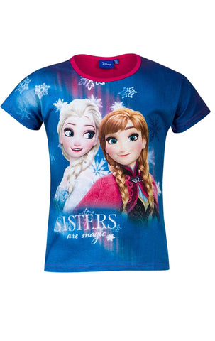 Official Licensed Girls Disney Frozen Elsa AnnaTop Tshirt Age 2 to 8  Years - Character Direct