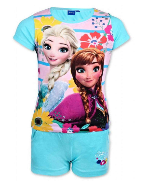 Disney Frozen Princess Elsa Anna Girls Short Pyjama 3 to 10 Years - Character Direct