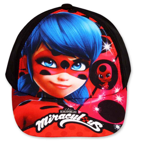Official Girls Miraculous Ladybug Baseball Hat Age 3 to 8 Years