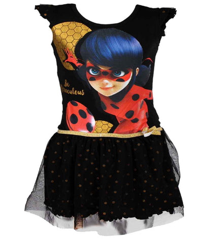 Girls Official Licensed Miraculous Ladybug Cotton Costume Dress Age 4 to 10 Years