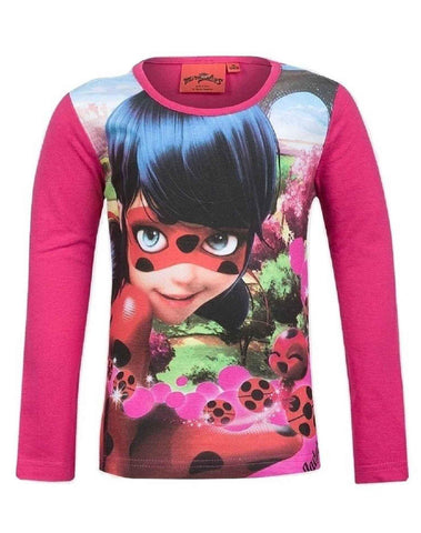 Girls Official Licensed Miraculous Ladybug Tshirt in Purple Age 4 to 10 Years