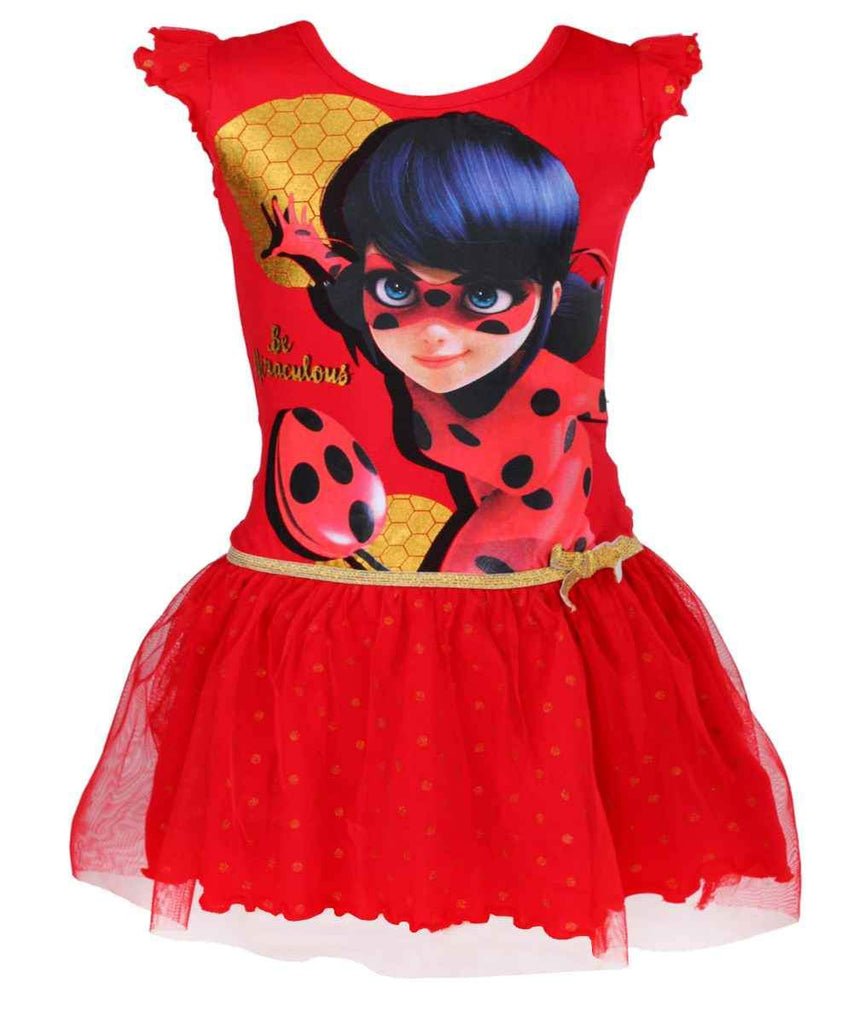 6a6797c8cd Girls Official Licensed Miraculous Ladybug Cotton Costume Dress Age 4 – Character  Direct