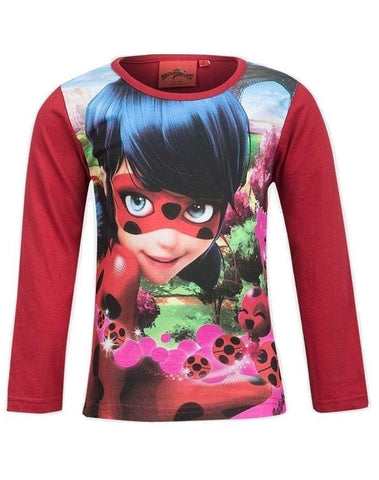 Girls Official Licensed Miraculous Ladybug Tshirt in Red Age 4 to 10 Years