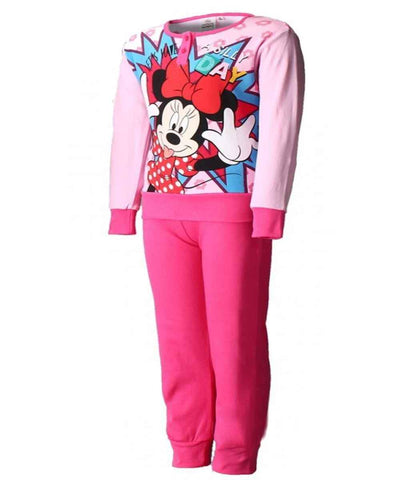Girls Minnie Mouse Long Length Pyjamas Age 3 -8 Years - Character Direct