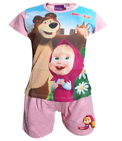 Official Girls Masha and the Bear Short Pyjamas