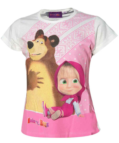 Girls Masha and the Bear Tshirt Age 3 to 8 Years