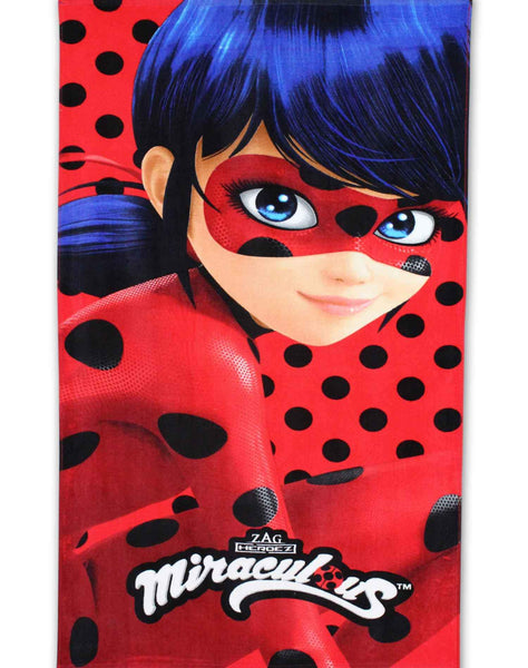 Girls Official Licensed Ladybug Cotton Beach Towel 140X70 - Character Direct