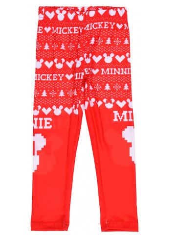 Girls Disney Minnie Mouse Legging in Red 3-8 Years - Character Direct