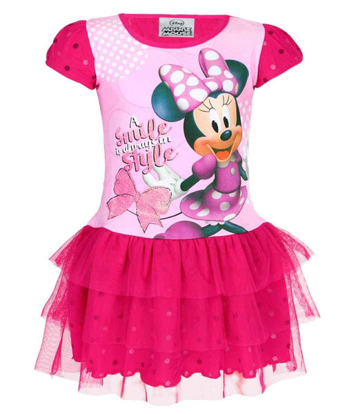 Girls Disney Minnie Mouse Costume Dress Age 2 to 6 Years - Character Direct