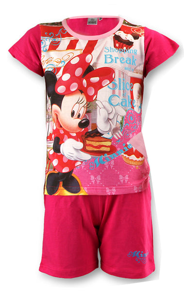 Girls Official Licensed Minnie Mouse Short Pyjamas Age 3 to 8 Years - Character Direct