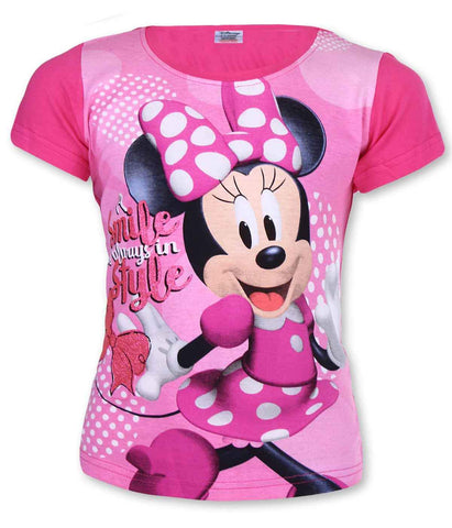 Girls Official Licensed Minnie Mouse Tshirt Age 3-8 Years - Character Direct