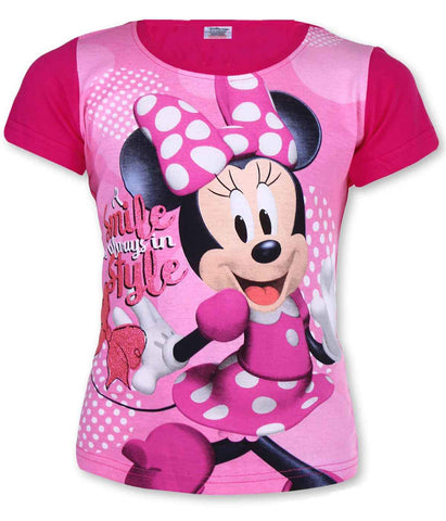 Girls Official Licensed Minnie Mouse Tshirt Age 3-8 Years
