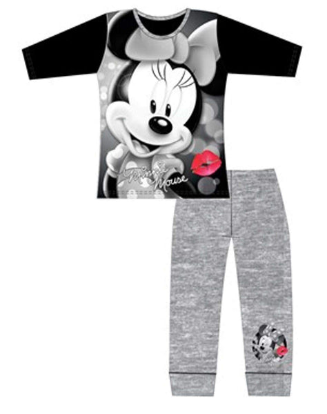Girls Minnie Mouse Long Length Pyjamas Age 5 to 12 Years