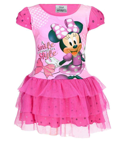 Girls Disney Minnie Mouse Costume Dress Age 2 to 6 Years