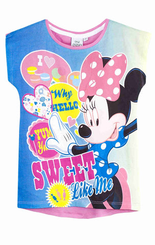 Disney Girls Minnie Mouse tshirt Top Age 3-8 Years - Character Direct