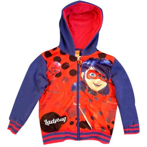 Girls Miraculous Ladybug Hoodie Age 4 to 10 Years - Character Direct