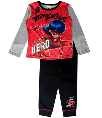 Girls Licensed Miraculous Ladybug Marinette Print Pyjamas - Character Direct