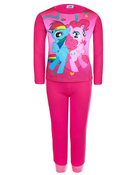 MLP Girls My Little Pony Long Sleeve Cotton Pyjamas 3 to 10 Years
