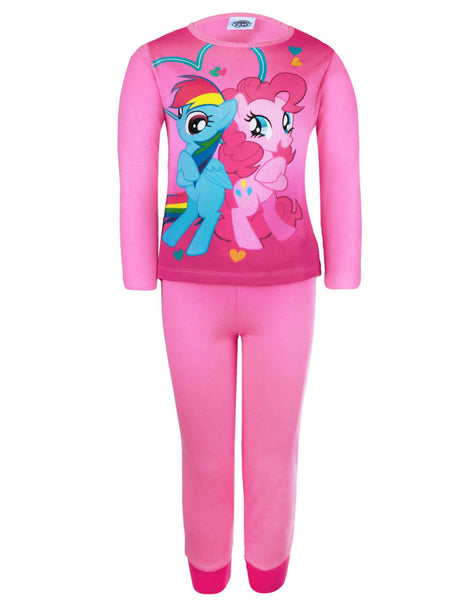 MLP Girls My Little Pony Long Sleeve Cotton Pyjamas 3 to 10 Years - Character Direct