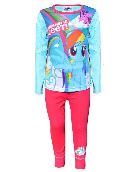 Official Girls My Little Pony Pyjamas pjs Nightwear Age 4 to 10 Years - Character Direct