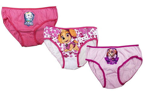 Girls Official Paw Patrol 3 Piece Knicker Brief Underwear Set Age 2-8 Years - Character Direct