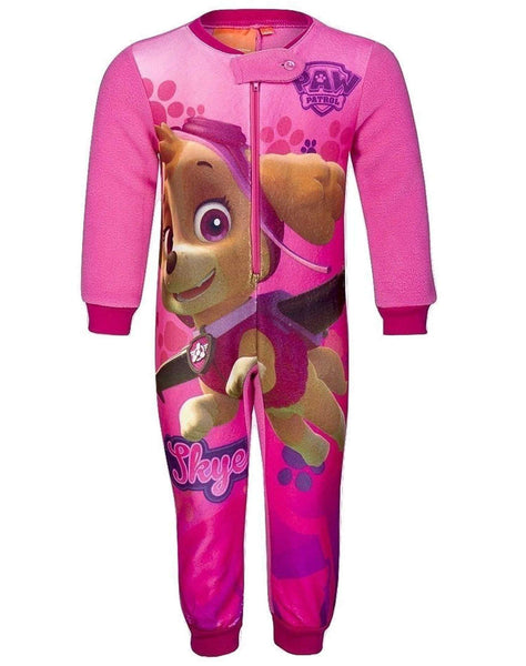 Girls Licensed Paw Patrol Skye Everest Print Micro Fleece Onesies Age 1 to 6 Years - Character Direct