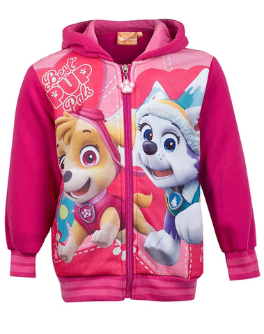 Girls Official Licensed Paw Patrol Pink Hooded Sweatshirt Top Age 2-8 Years