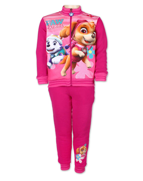 Girls Official Licenced Paw Patrol Printed Fleece Lined Tracksuit Trackpant Age 2 to 8 Years - Character Direct
