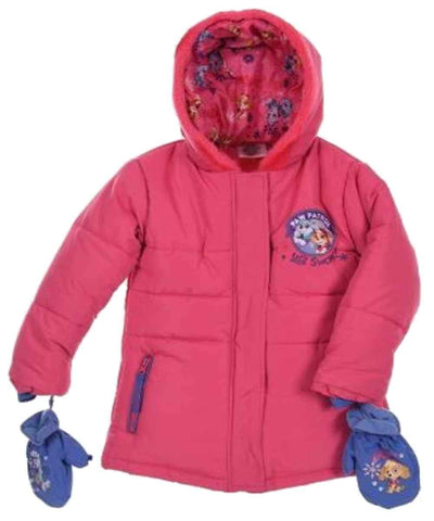 Girls Paw Patrol Puffer Jacket