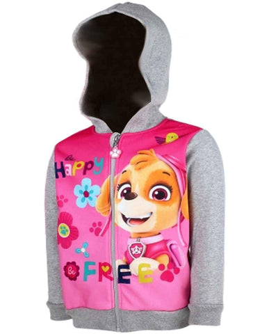 Girls Official Licensed Paw Patrol Pink Hooded Sweatshirt Top Age 3 to 8 Years - Character Direct
