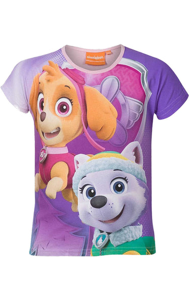 Girls Official Paw Patrol Tshirt Top Age 2 to 8 Years - Character Direct