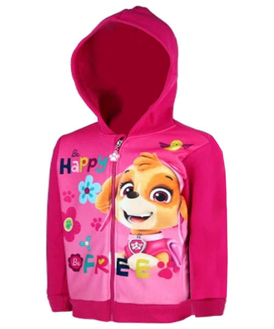 Girls Official Licensed Paw Patrol Pink Hooded Sweatshirt Top Age 3 to 8 Years
