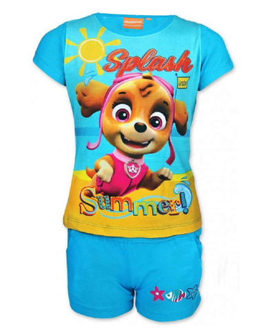 Girls Offical Licensed Paw Patrol Short Pyjamas Beach Set Age 2 to 8 Years - Character Direct