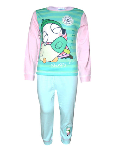 Girls Official Licensed Sarah & Duck Pyjamas Age 1 to 5 Years