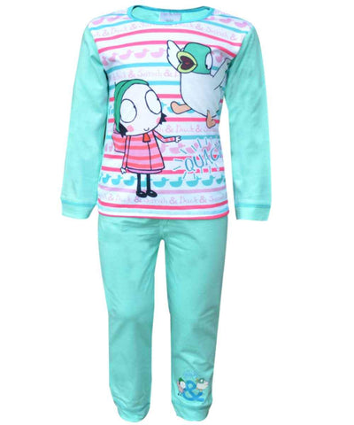 Girls Official Licensed Sarah & Duck Pyjamas 1.5-5 Years - Character Direct