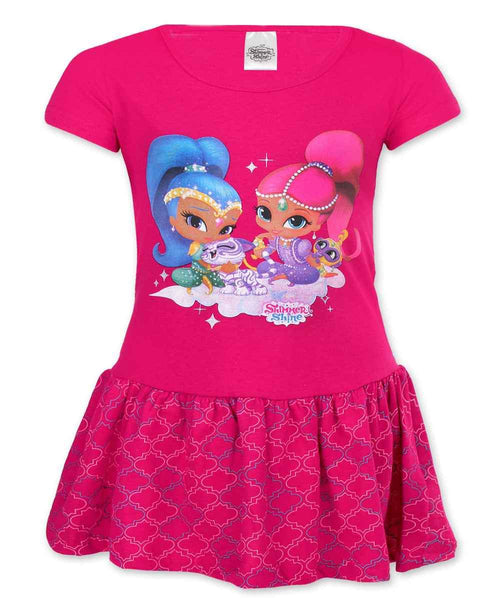 Girls Shimmer & Shine Costume Dress Age 2-6 Years - Character Direct